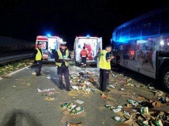 Wypadek na S8. W autobusie było 48 dzieci