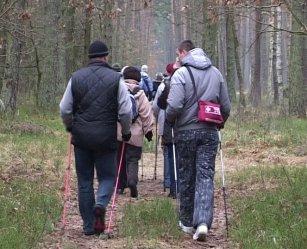 Piotrków - Koło. Z kijkami po lesie