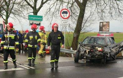 Wypadek na drodze krajowej nr 91 w Longinówce