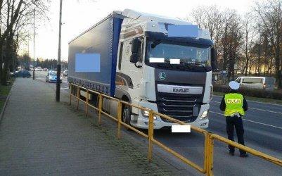 W Łódzkiem kontrolowali ciężarówki