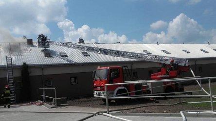 Pożar w budynku hotelowym w Jeżowie