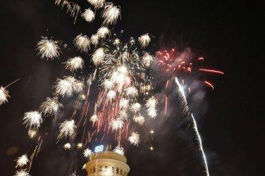 Pokaz fajerwerków w Piotrkowie