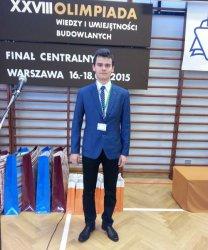 """Uczeń z """"Budowlanki"""" laureatem XXVIII Olimpiady Wiedzy i Umiejętności Budowlanych"""