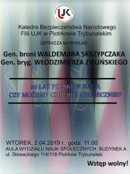 Wykład dotyczący 20 lat Polski w NATO