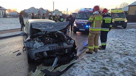 Wypadek w Wolborzu. Trzy osoby ranne