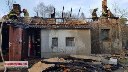 Pożar budynku w gminie Sulejów