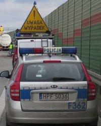 Po zderzeniu pięciu samochodów A1 była całkowicie zablokowana