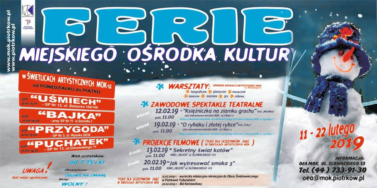 Ferie zimowe w MOK - wycieczka edukacyjno - rekreacyjna do Obozu Średniowiecznego w Piotrkowie Trybunalskim