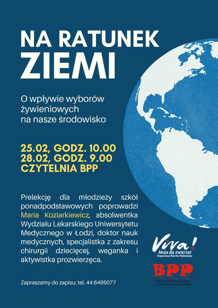 Na ratunek Ziemi - spotkanie dla młodzieży w Bibliotece Pedagogicznej