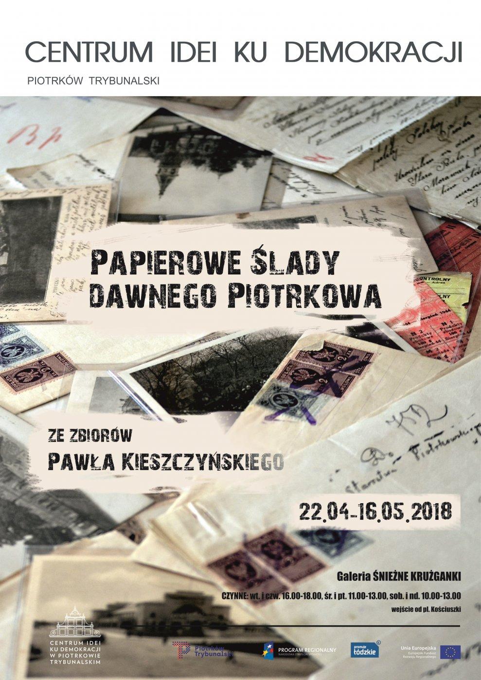 """Wystawa """"Papierowe ślady dawnego Piotrkowa"""""""