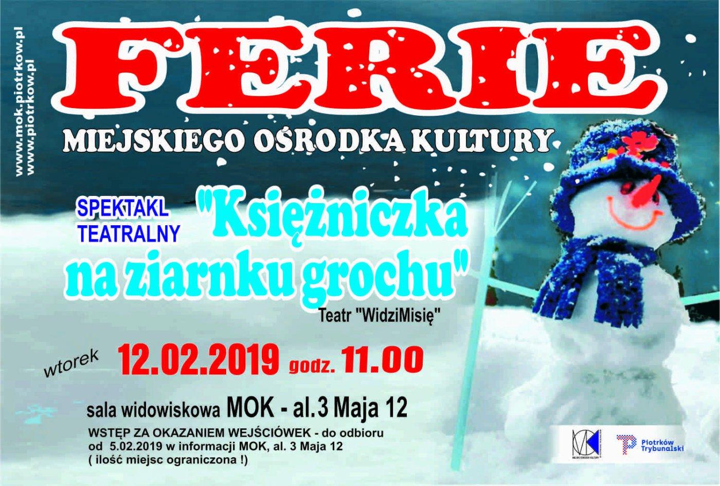 Ferie zimowe w MOK - spektakl teatralny pt.: