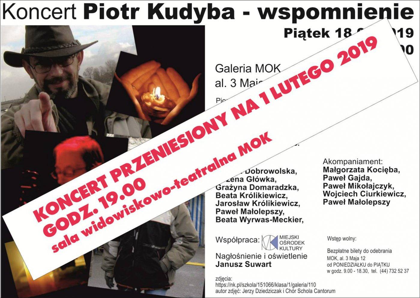 Koncert poświęcony pamięci Piotra Kudyby