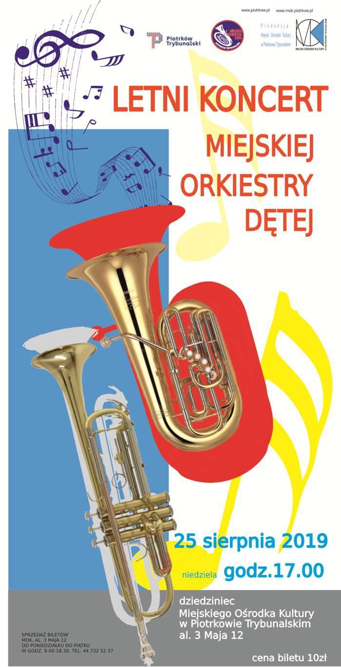 Letni koncert Miejskiej Orkiestry Dętej