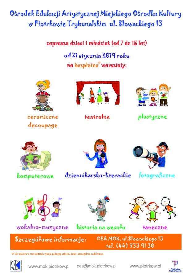 Warsztaty w OEA MOK dla dzieci i młodzieży