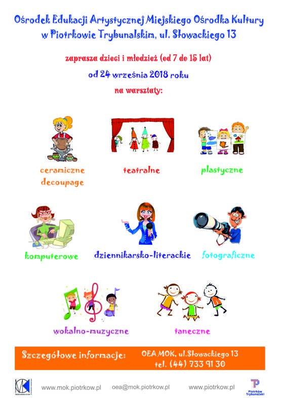 Rozpoczęcie warsztatów artystycznych dla dzieci w OEA MOK