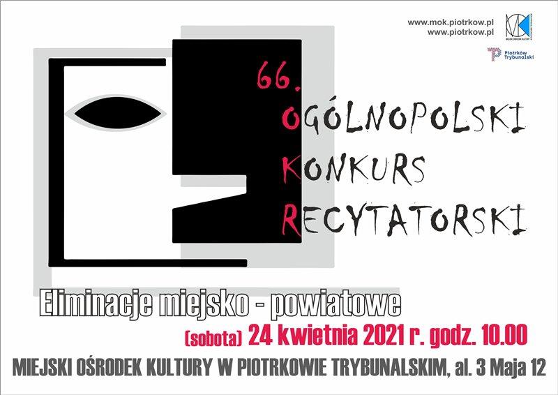 66. Ogólnopolski Konkurs Recytatorski - eliminacje miejsko-powiatowe