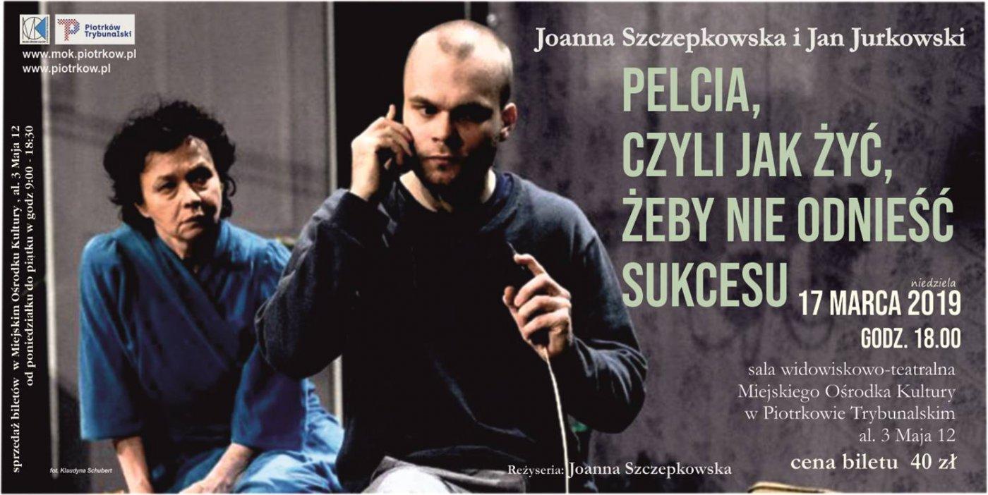 Spektakl teatralny z Joanną Szczepkowską w roli głównej -