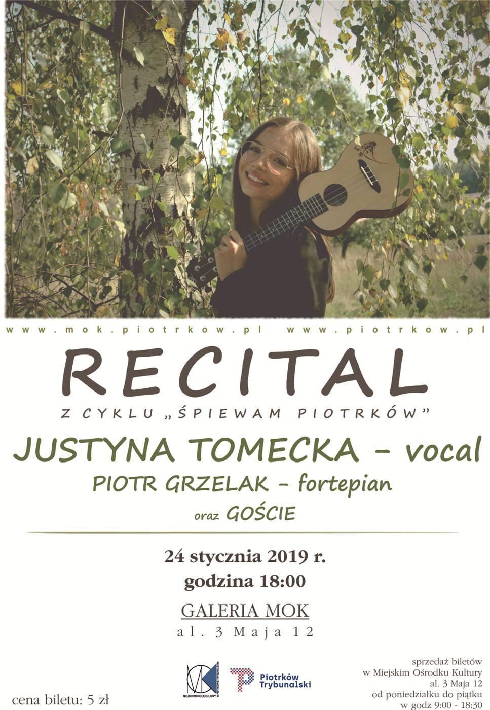Koncert Justyny Tomeckiej z cyklu