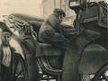 """Słynna piotrkowska dorożka nr 13, w której zginął Finklestein.  Foto: """"Detektyw"""" 34/1931 za tajnydetektyw.blogspot.com"""
