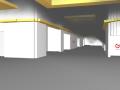 Wnętrze Centrum Handlowego – początek pożaru model firmy GardaTech.