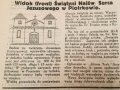 """Jeden z artykułów """"Głosu Trybunalskiego"""" (nr 17/2019) poświęcony budowie kościoła."""