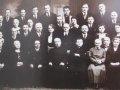 Członkowie komitetu organizacyjnego budowy kościoła p.w. Najświętszego Serca Jezusowego.