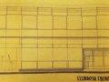 """Projekt architektoniczny kawiarni """"Jubileuszowa"""". Foto: Archiwum Państwowe w Piotrkowie Trybunalskim."""