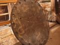 Jedna z dawnych tarcz zegara, zachowana do dziś, przechowywana na pamiątkę na jednej z kondygnacji bernardyńskiej wieży.