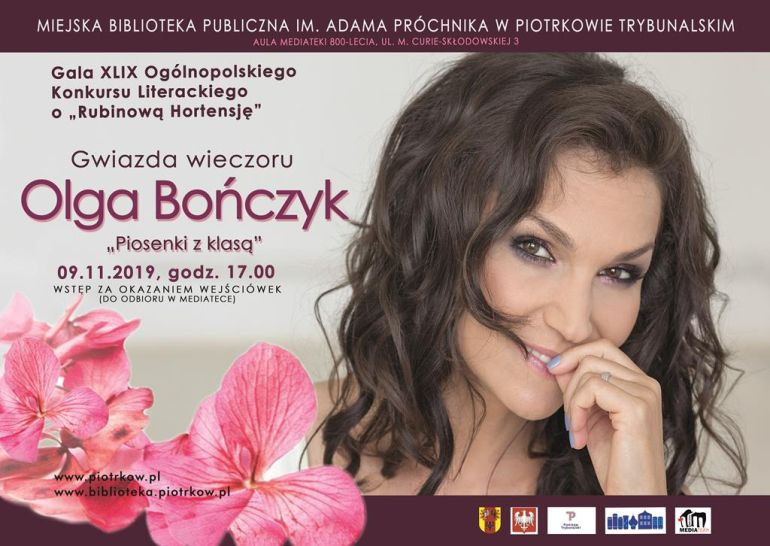 Olga Bończyk gwiazdą święta poezji w Piotrkowie