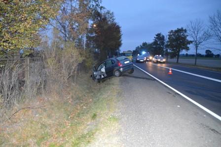 Wypadek na drodze Piotrków-Bełchatów. Jedna osoba nie żyje