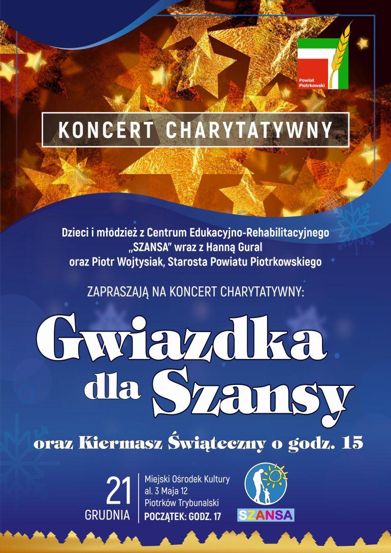 """Koncert dla """"Szansy"""" już w sobotę"""
