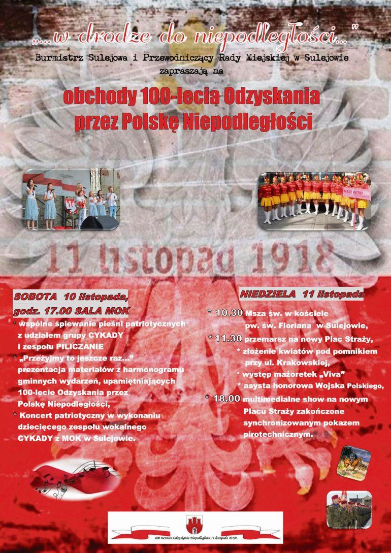 Sulejów: Dwudniowy finał obchodów 100-lecia niepodległości