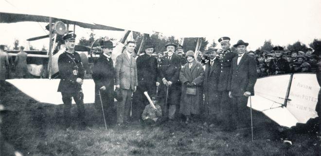 Początki piotrkowskiego lotniska