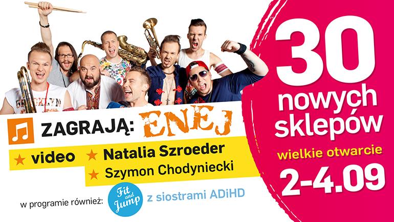 Weekend koncertów i rabatów: Enej, Video, Natalia Szroeder i Szymon Chodyniecki w Ptak Outlet