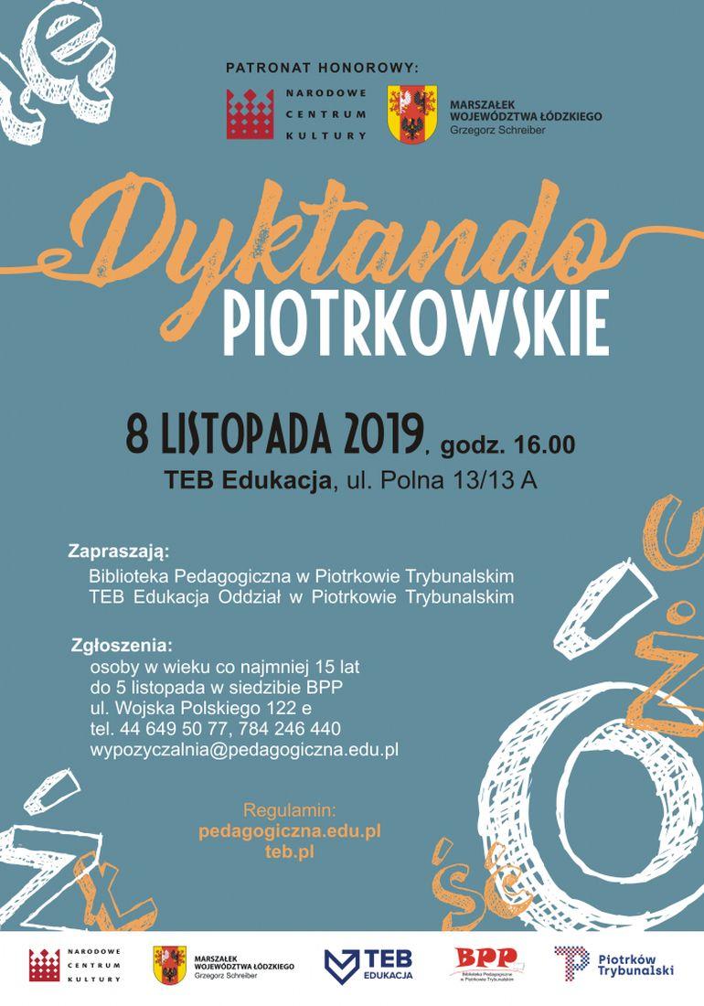 I Dyktando Piotrkowskie. Zgłoszenia do 5 listopada