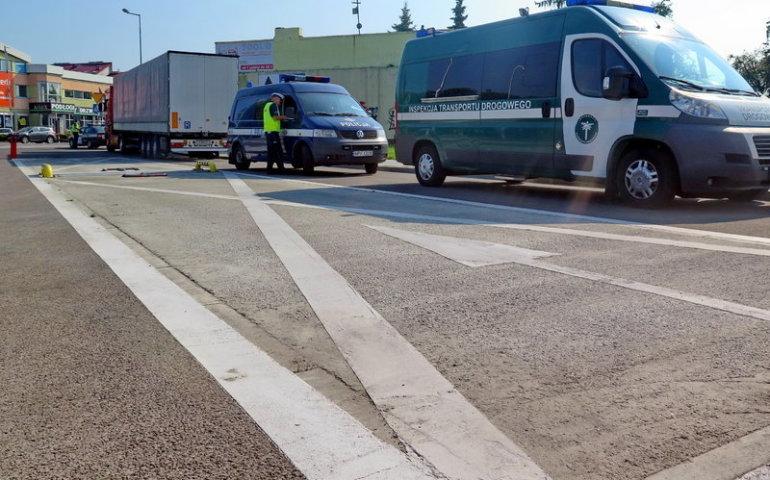 Przeciążone ciężarówki mają znikać z piotrkowskich ulic