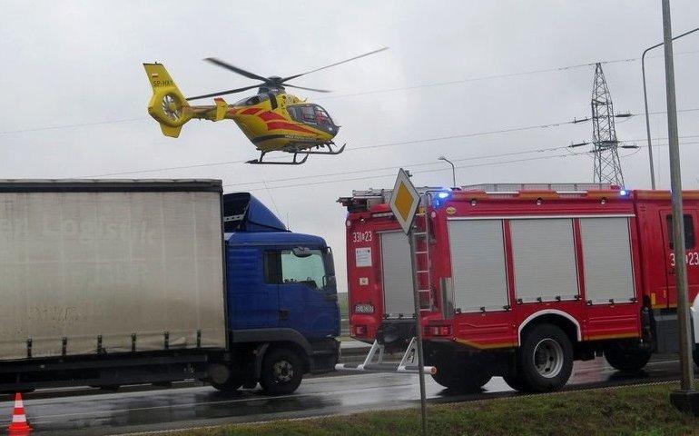 Wypadek w Srocku. Droga była zablokowana