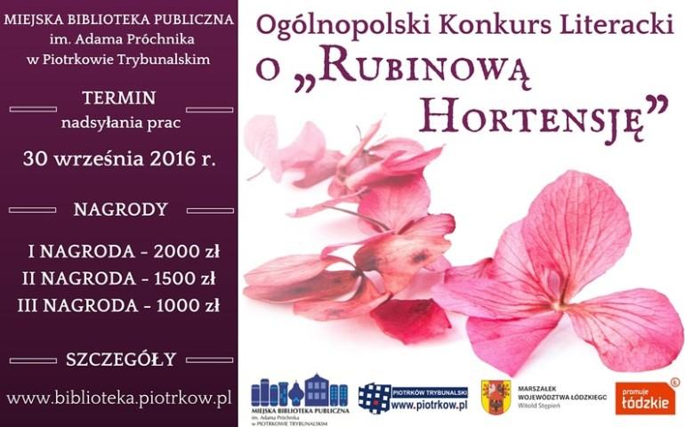 """Z historii """"Rubinowej Hortensji"""""""