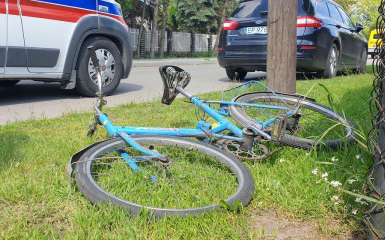 Potrącenie rowerzystki przy Migdałowej