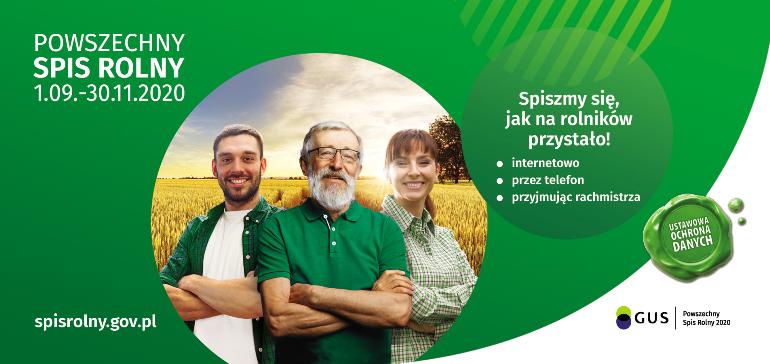 Spiszmy się jak na rolników przystało! – czyli Powszechny Spis Rolny 2020.